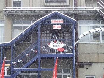 感謝祭の朝・12月の東北らしく雪!よしっ!