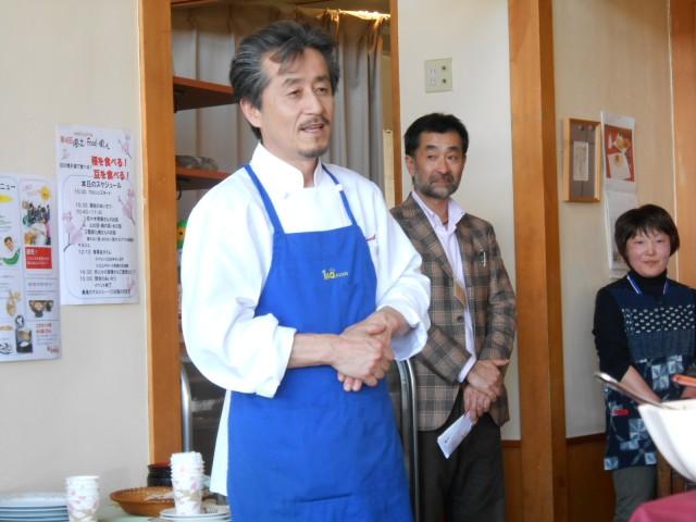 最後の最後は、我らが伊藤シェフから、お礼と今後の抱負が語られました。第5回目は夏!夏に5回目を開催するお約束を!^^
