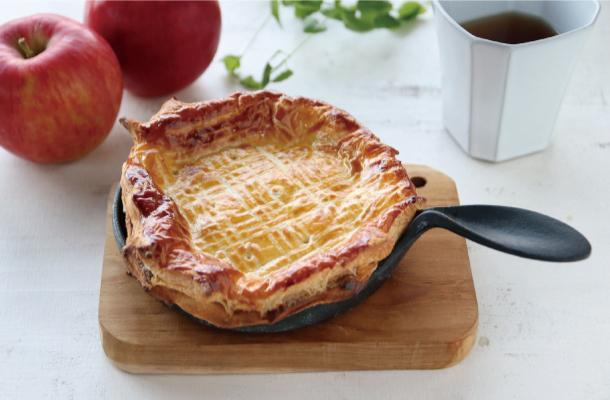 蓋付ミニパンでアップルパイ