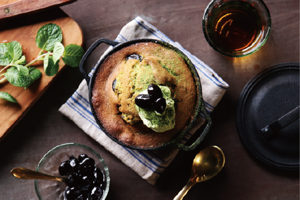 黒豆の抹茶ケーキ