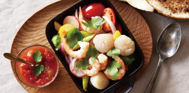 春野菜のシーフード添えサラダ