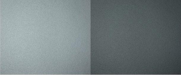 ネイキッドフィニッシュの表面と従来の南部鉄器の表面の比較