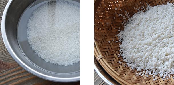 もち 米 の 水 加減