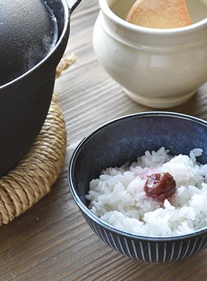 昔ながらのごはん釜で炊く ふっくら美味しいごはん