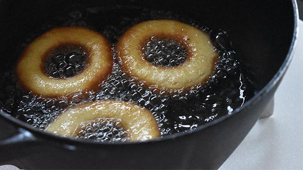 鉄鍋ドーナツレシピ