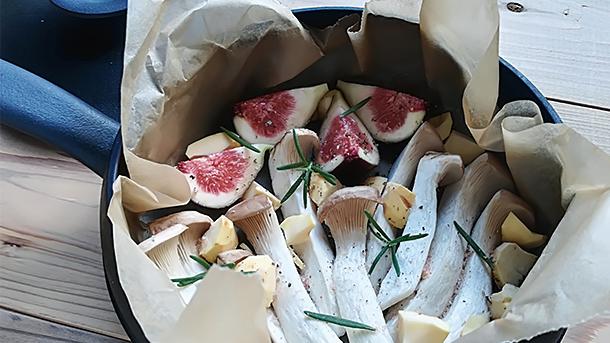 マルットヴィーガン きのこと無花果の紙包み焼き