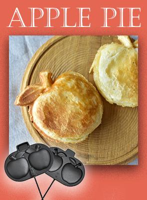 りんご形のアップルパイ