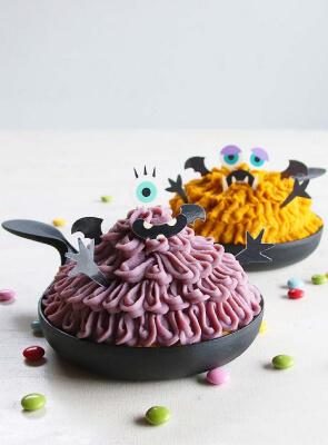 ハロウィンケーキを手作りで愉しむ!鉄フライパン一つで完成♪